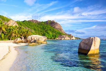 Beach Anse Source d'Argent, La Digue, Seyshelles