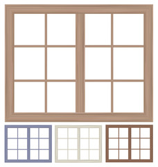 Vector window frames isolated.
