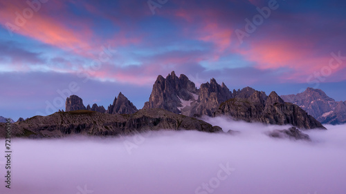 Italy, Dolomites - wonderful scenery, above the clouds © Zsolnai Gergely