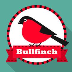 Bullfinch. Vector illustration.
