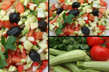 Crudités : Mini courgette  Tomate olive  Persil