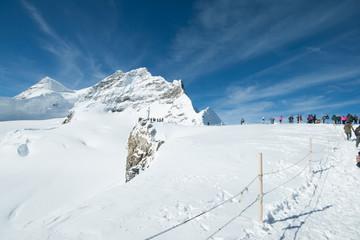 Aletsch glacier on Jungfrau glacier