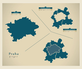 Modern Map - Praha CZ