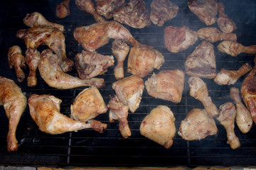 barbecue, poulet