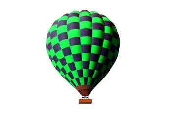 green hot air ballon