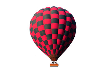 red hot air ballon