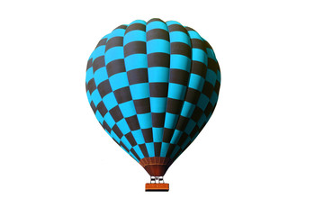 turquoise hot air ballon
