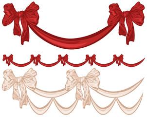 satin bow decorative garland collection