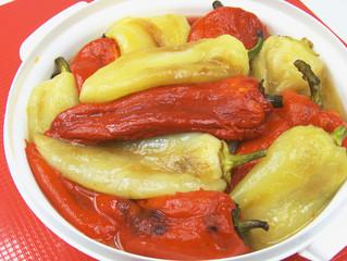 Paprika  im Teller