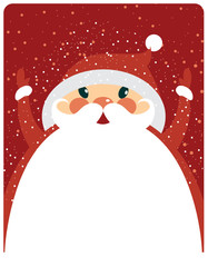 Santa Claus with copy space