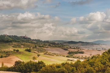 Picturesque scenery of Tuscany, Italy