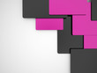 Pink abstract cubes business concept