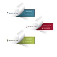 Infographie éléments pages courbées web entreprise