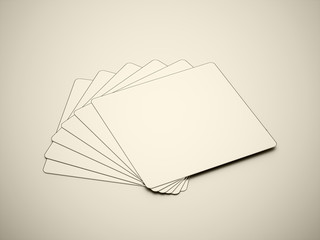 Many blank card rendered