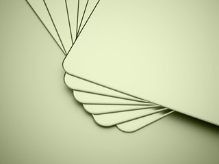 Green blank card concept