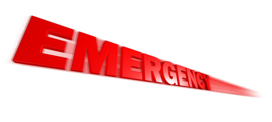 speed Emergency text on a white background