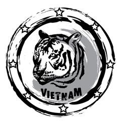 rubber stamp. Vietnam.