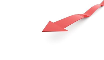 Red arrow business concept on white