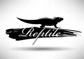 Reptile Icon with Typographic Design