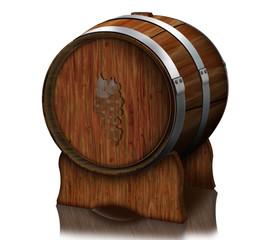 Barrique - Faß, Weinfass, Weinlagerung, Holzfass, freigestellt