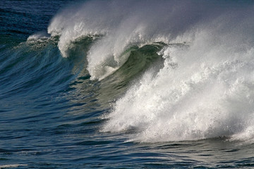 Crashing big wave