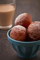 Small homemade doughnuts