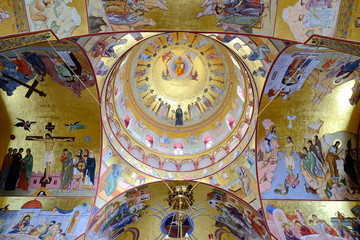 Interior Of Resurrection Cathedral In Podgorica, Montenegro