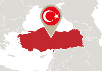 Turkey on Europe map