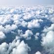 canvas print picture - Wolken am Himmel von oben
