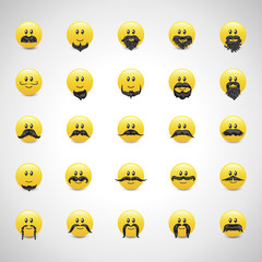 Smiley Icons Set - Vector Illustration
