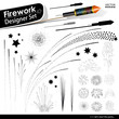 Silvester, Silhouette, Feuerwerk, Explosion, Firework, Outlines