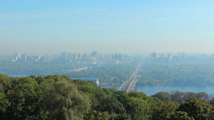 very nice view of Kiev Ukraine, panorama from right to left