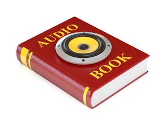 audio book 3d illustration