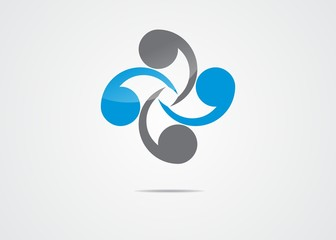 circle, logo company signs, letter s, vector, symbol, succes
