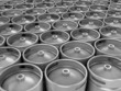 Beer kegs 3d background - 72314781
