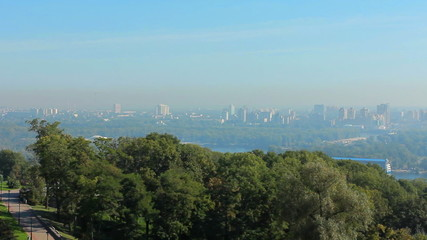 very nice view of Kiev Ukraine, panorama from left to right