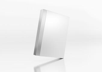 Box in Box geneigt auf weißem Hintergrund