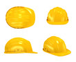canvas print picture - Construction Helmet various views