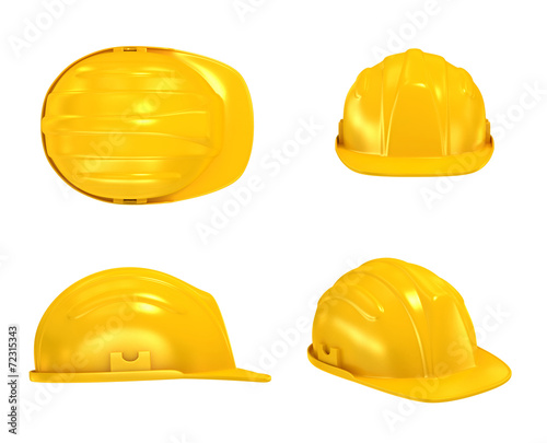 canvas print picture Construction Helmet various views
