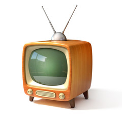 retro tv 3d illustration