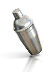 cocktail shaker isolated on a white background