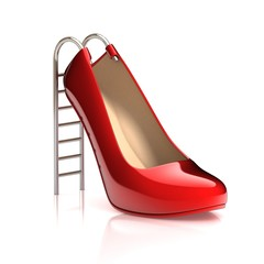 high heels 3d concept