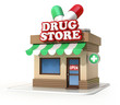 drugstore 3d illustration