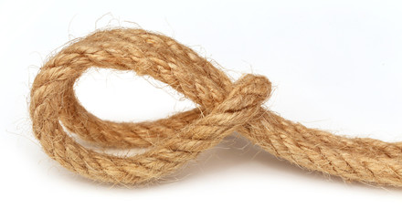 Rope over white background