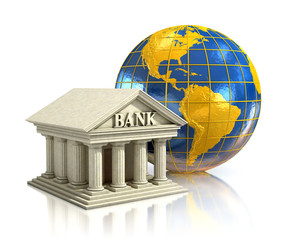 world bank 3d illustration