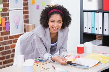 Portrait of female interior designer