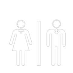 Uomo e donna con simboli in testa