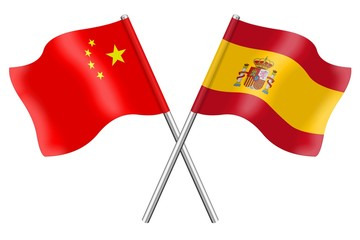 Flags: China and Spain