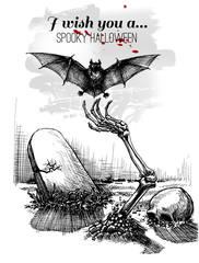 Halloween sketch design background