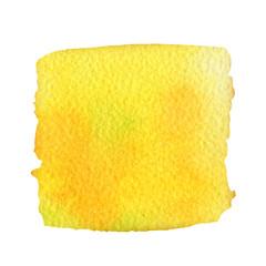 yellow watercolor brush strokes